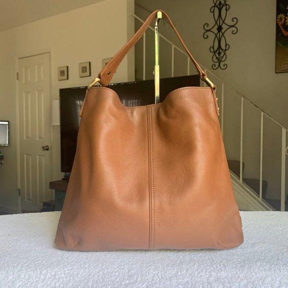 Kooba Hobo Brown Pebbled Leather Bag